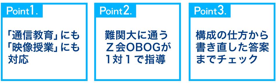 Z会のオンライン個別指導 ポイント