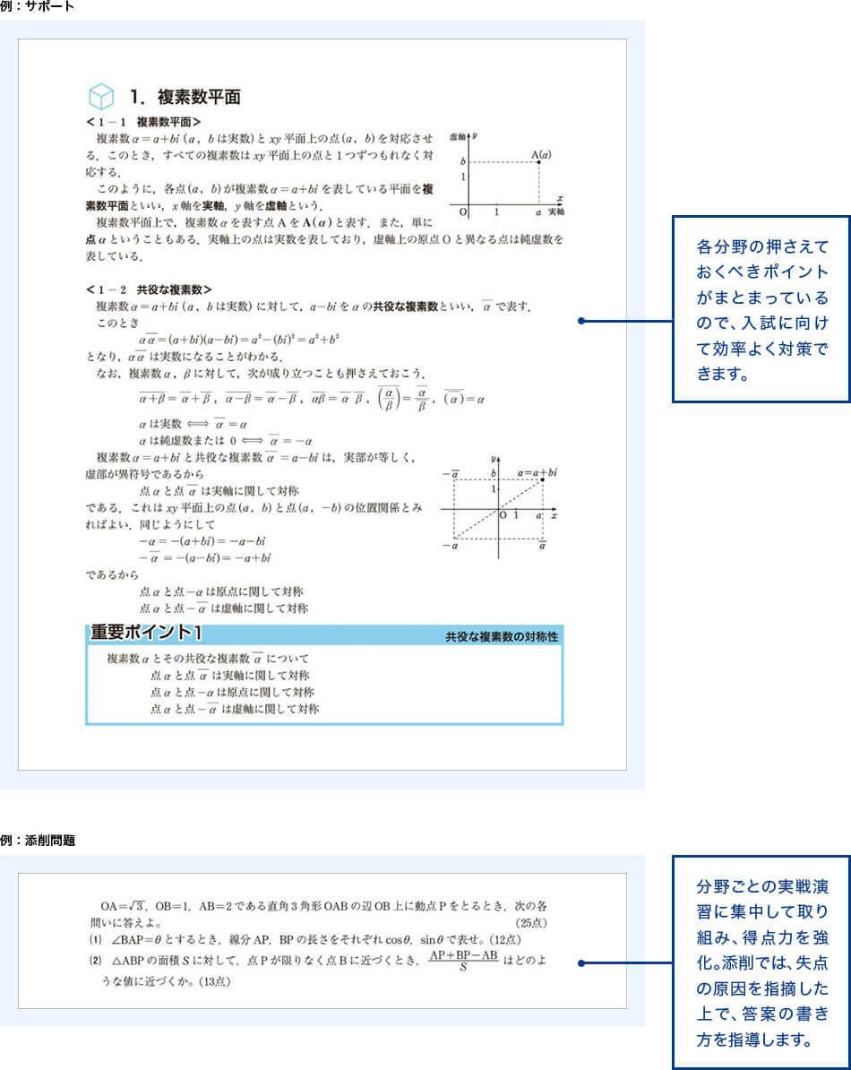 例 サポート、添削問題