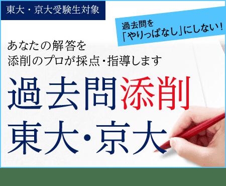 東大・京大受験生対象 あなたの解答を添削のプロが採点・指導します 過去問添削東大・京大