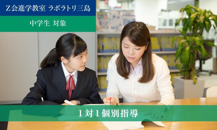 1対1個別指導(2021年度)|Z会進学教室 ラボラトリ三島 中学生
