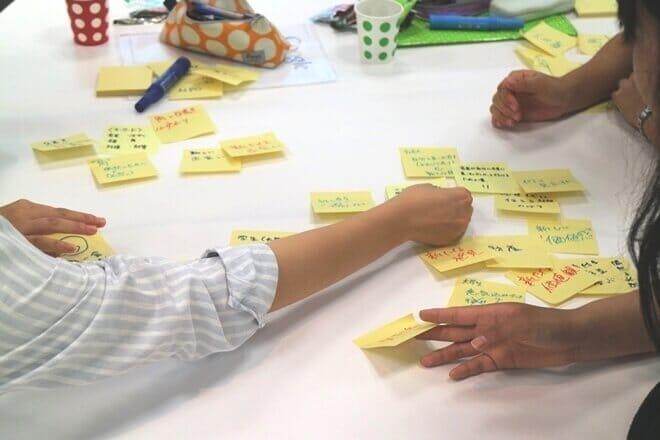 博報堂の大木さんが主宰する発想体験ワークショッププログラム「OPEN-CAMP」の制作風景