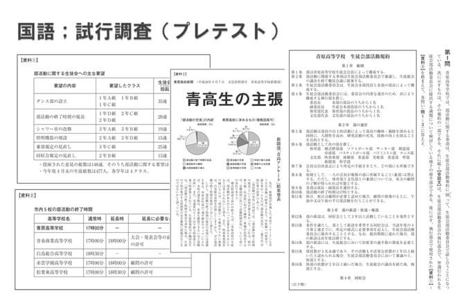 国語; 試行調査(プレテスト)