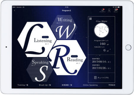 Asteriaタブレット画面